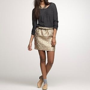 J. Crew Metallic skirt
